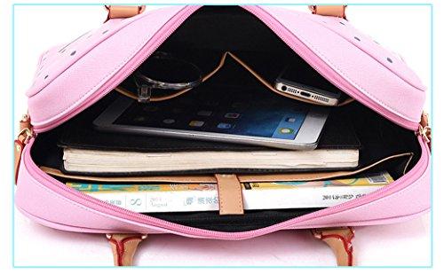 Blue Laptop For Business women business Bags Briefcase Messenger Travel Leather Handbag school men O756wfqx6A