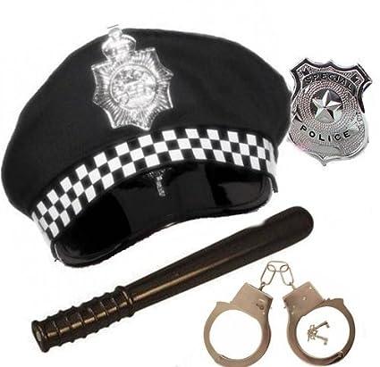 5 x adultos disfraz de oficial de policía policía gorro de Panda ... 6d9a427d522