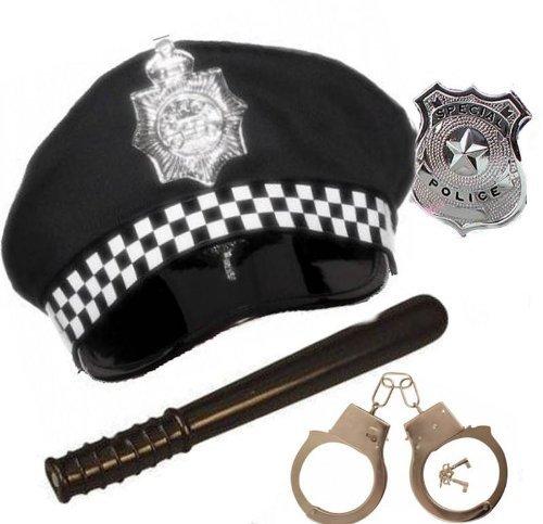 3 x adultos disfraz de oficial de policía policía gorro de Panda ...