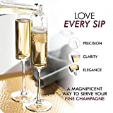 Champagne Flutes, Edge Champagne Glass Set of 4