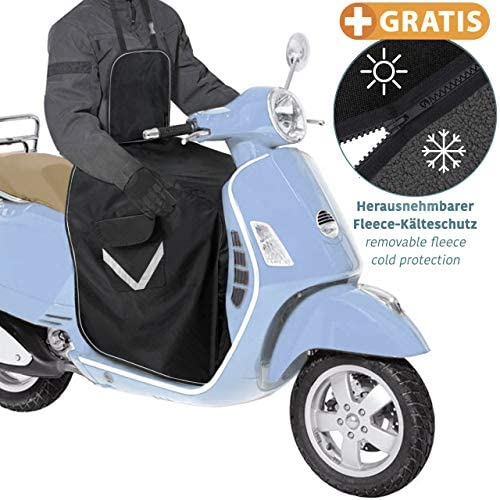 Rollerdecke Winter - Beinschutz Roller - Regenschutz Roller für alle Motorroller – universelle Größe - TÜV-geprüft