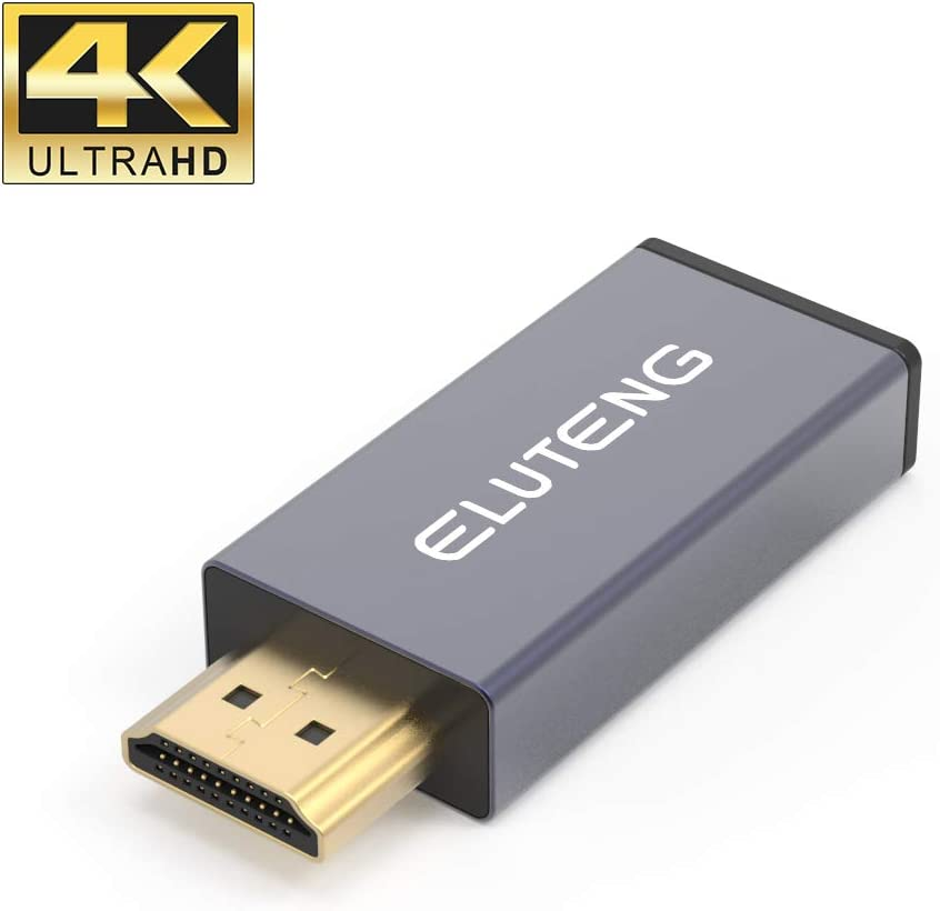 ELUTENG Adaptador USB C hembra a HDMI macho, 4K 60HZ Mini USB C a HDMI (compatible con Thunderbolt 3) 10 Gbp/s velocidad USB C a HDMI conector convertidor para PC tipo C,