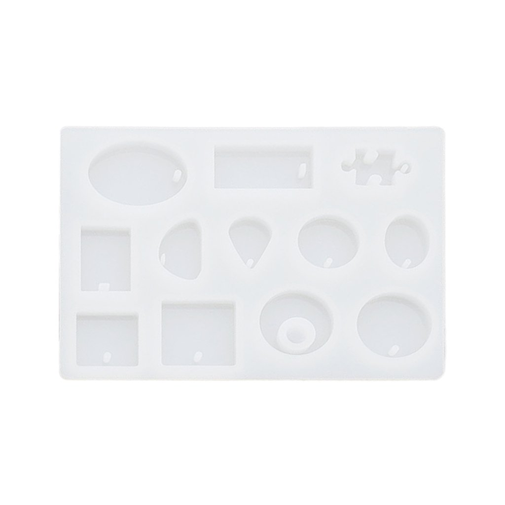 Generic Rotonda Quadrata Forma Stampi DIY Pendente Ciondoli Di Silicone Vassoio In Resina Strumenti Per La Preparazione Di Gioielli
