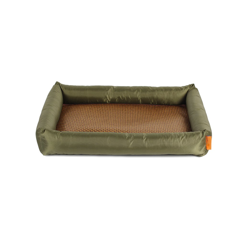 M Summer Cat Dog Kennel Mat Washable Mattress Army Green (Size   M)
