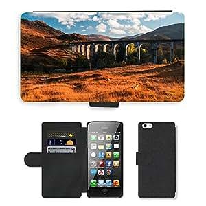 CARD POCKET BOOK CASE PU LEATHER CASE // M00421617 Puente Paisaje Edificio de piedra // Apple iPhone 5 5S 5G