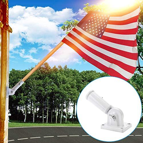 Flag Pole Bracket Pole Holder Aluminum House Flag Bracket 180 Degree Adjustment Fit For 1