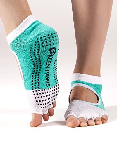 Zen Paws premium non slip toeless Yoga, Pilates, Fitness, Barre socks