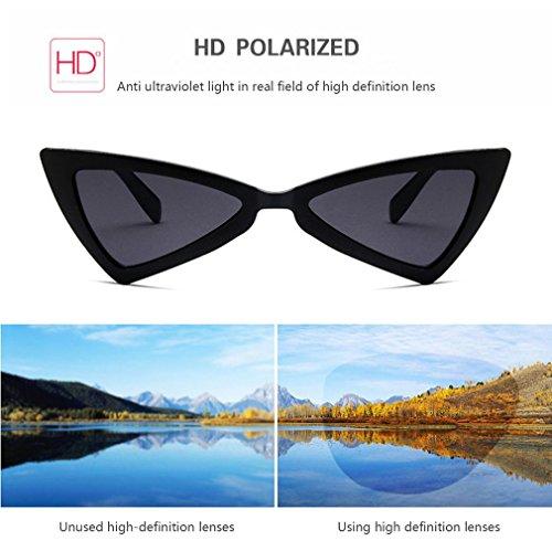 triángulo UV400 Gafas diseño viaje de de sol para gafas de sol de de ojo mujer gato BqzBgv