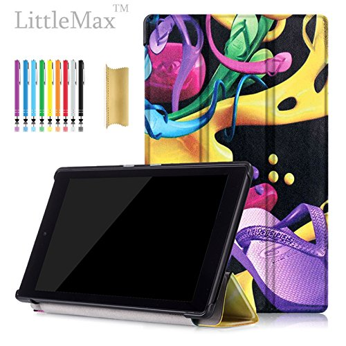 LittleMax HD 8 Case, Colorful Painting Lightweight Case F...