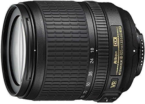 Nikon 18-105mm f/3.5-5.6 AF-S DX VR ED Nikkor Lens for Nikon Digital SLR Cameras (Renewed)