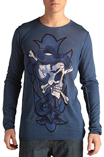 Ed Hardy Mens Skull Print Crew-neck Sweater - Coastal Ford - (Ed Hardy Men Sweater)
