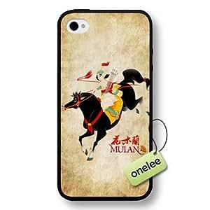 Disney Cartoon Mulan Hard Plastic Phone Case & Cover for iPhone 4/4s - Black wangjiang maoyi