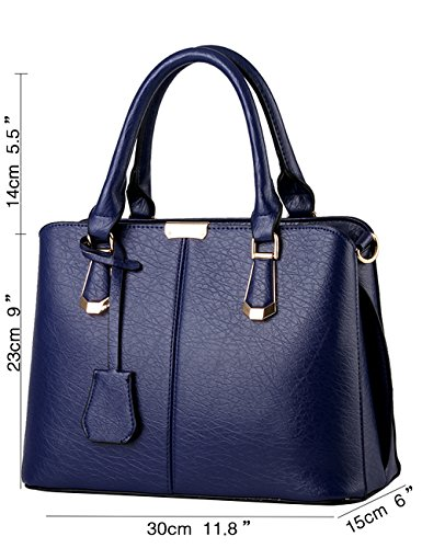 Pu Ivory Diamond Blue New Tote Sac à Glossy Leather Bag bandoulière Ladies Menschwear xfHqIw