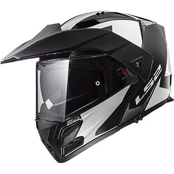 Amazon.es: LS2 Cascos de Motocicleta Metro Evo Sub, Blanco ...