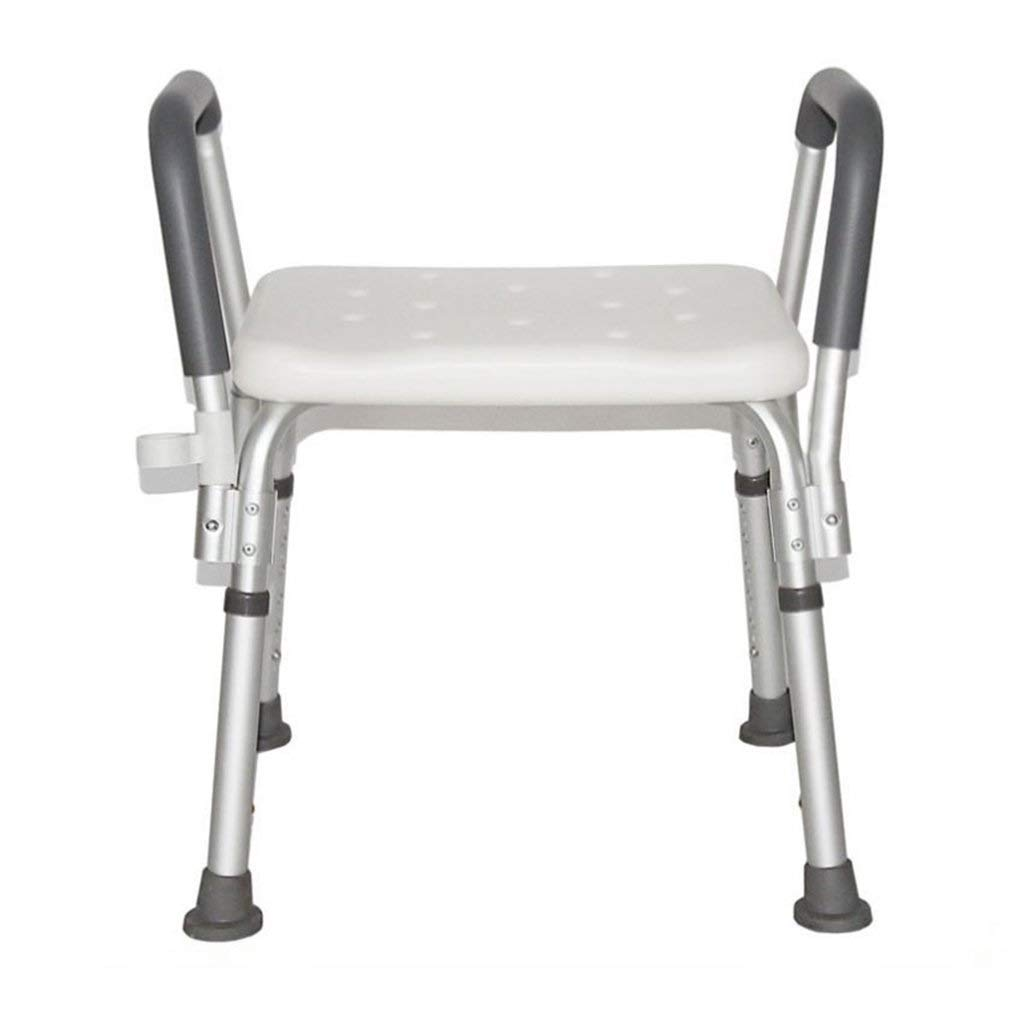 HUTNchar Safety Changing Shoes Sitting Stool Shower Chair Bath Seat, Spa Bathtub Shower Lift Chair, Non Slip Height Adjustable for Bathroom Aid Dementia Patients and Older Generation