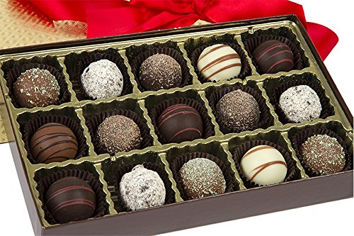 Sugar Plum Signature Tempting Truffle Box   Truffle Variety By Sugar Plum Chocolates  30 Piece