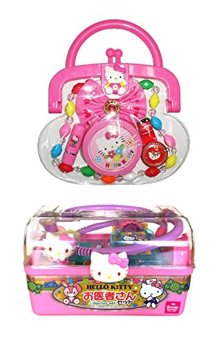 Hello Kitty Two Products - Dr. Case with Medical Supplies and Purse with Accessories