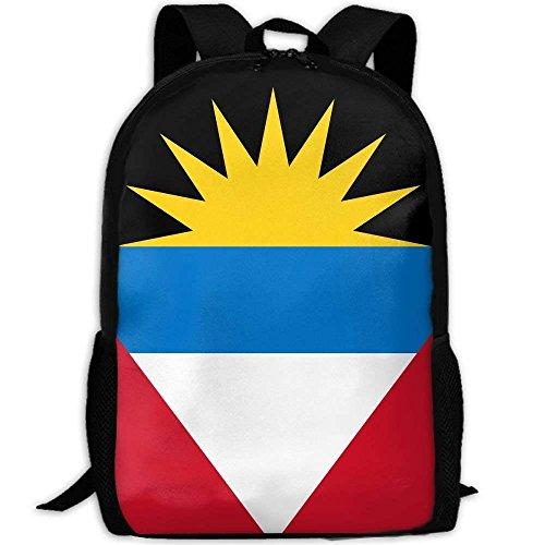YIXKC Adult Backpack Antigua & Barbuda National Flag Custom Casual Gift School Bag Travel Daypack
