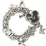 Disney Women's MK2081 Mickey Mouse Heart Shaped Dial Charm Bracelet Watch