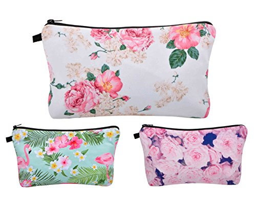 Vercord 3pcs Unicorn Makeup Bag Funny 3D Printing Women Trav