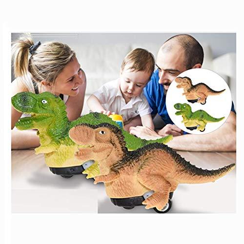 DANNIY 2020 Ensemble de Voiture Jouet Dinosaure Cadeaux & Jouets pour Enfants Jouet Dinosaure à Tirer pour Le Nouvel an pour Les Enfants (Tyrannosaurus Brun)
