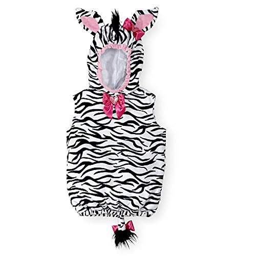 Koala Kids Zebra Baby Girls Dress Up Plush Halloween Costume (9-12 Months) (Preemie Halloween Costumes)