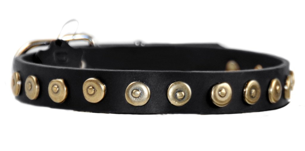 Dean and Tyler DOT MATRIX Dog Collar Nickel Hardware Black Size 102cm x 3cm Width. Fits neck size 38 Inches to 42 Inches.