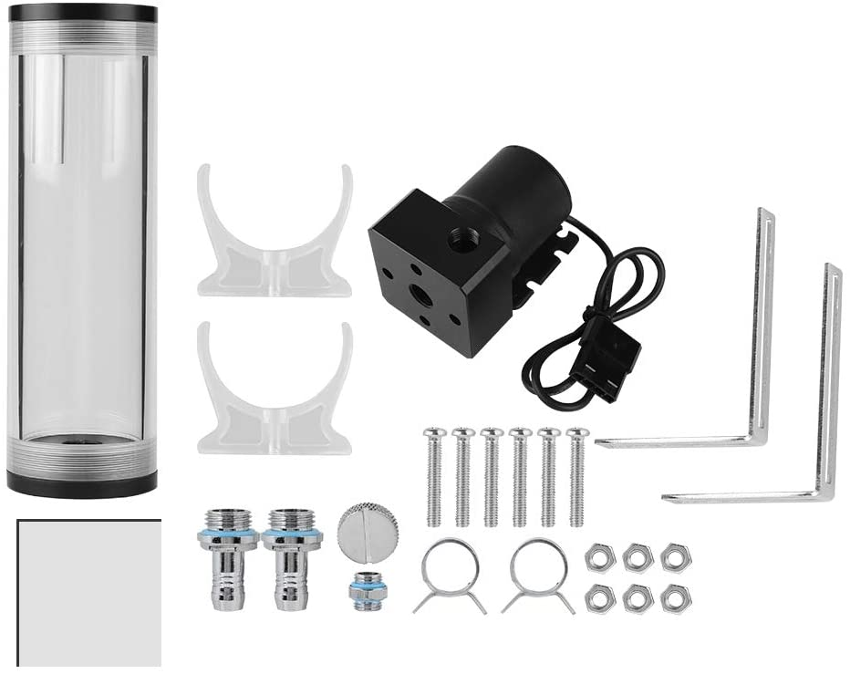 50m Diameter /& 160mm//110mm Long Mute Computer Water Cooling Tank for PC 160mm fosa 12V 19W 800L//H Water Flow Mini DC Pump Water Cooled Pump
