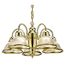 Design House 500546 Millbridge 5 Light Chandelier, Polished Brass