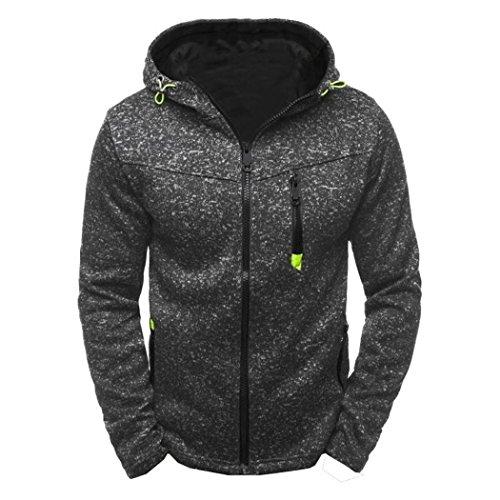 Forthery Men's Pullover Eco Fleece Hooded Sweatshirt (XL, Black)