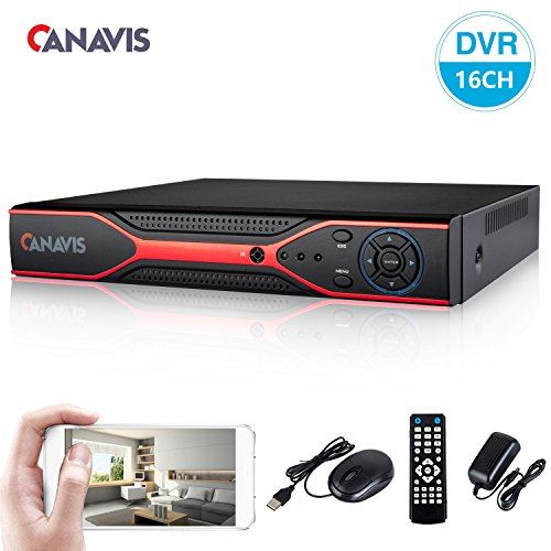 CANAVIS 16CH 1080N Hybrid 5-in-1 AHD DVR (1080P NVR+1080N AHD+960H Analog+TVI+CVI) Standalone DVR CCTV Surveillance Security System Video Recorder, Motion Detection, No HDD&Cameras