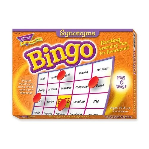 Trend Synonyms Bingo Game  Theme Subject  Learning  Skill Learning  Language by Trend Enterprises Inc