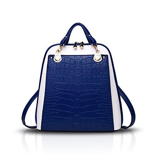 Sunas New crocodile pattern woman shoulder bag pu shoulder shoulder bag dual use female bag woman simple travel (Dual Use Handbag)