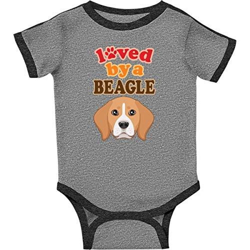 inktastic - Beagle Dog Infant Creeper 18 Months Ringer Heather and Smoke 360c0