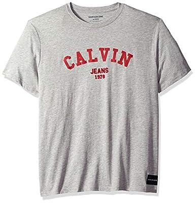 Calvin Klein Men's Short Sleeve Crew Neck T-Shirt Calvin Arch Graphic