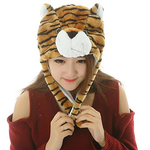 [Tiger_(US Seller)Warm Hat Cap 100% Polyester Plush Fluffy] (Sugar Skull Costume Tumblr)