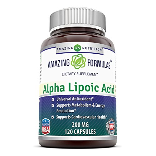 Amazing Formulas Alpha Lipoic Acid - 200 Mg, Capsules - Universal Antioxidant - Supports Metabolism & Energy Production - Supports Cardiovascular Health (120 Count)