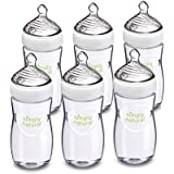 NUK Simply Nautral Baby Bottle, Clear, 9oz 6pk