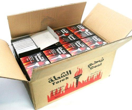 シーシャ炭 Torch シルバーチャコール(銀板型)1カートン:1440ピース(水タバコ shisha ナルギレ charcoal) B00HUP5EZO