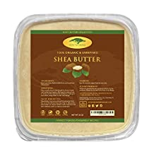 Bulk Raw Shea Butter (32 oz) with RECIPE EBOOK - Perfect for All Your DIY Home Recipes Like Soap Making, Lotion, Shampoo, Lip Balm and Hand Cream - Organic Unrefined Ivory Shea for Soft Skin and Hair