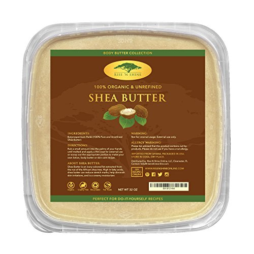 (32 oz) Bulk Raw Shea Butter with RECIPE EBOOK - Perfect for All Your DIY Home Recipes Like Soap Making, Lotion, Shampoo, Lip Balm and Hand Cream - Organic Unrefined (Soap Making Lotion)
