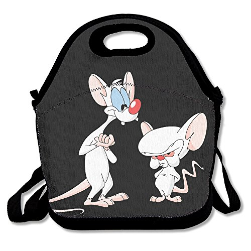 [Black Pinky And The Brain Unisex Lunch Bag For Woman Man Kid] (Cute Halloween Gifts For Coworkers)