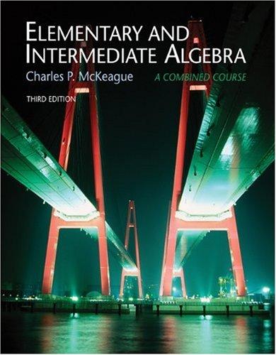 Elementary and Intermediate Algebra, Non-media Edition