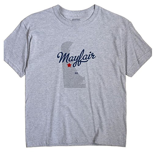 Mayfair Delaware DE MAP GreatCitees Unisex Souvenir T - Mayfair Map