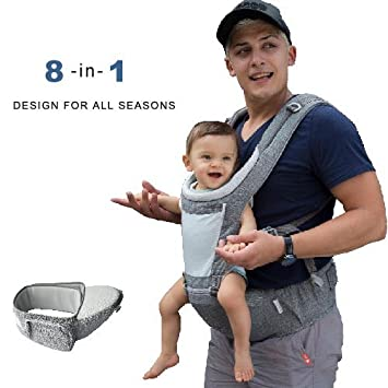 DaDa Hip Seat Baby Carrier, Airflow 360 Ergonomic Baby Carrier with hip seat for Infants and Toddler New Generation backpack carrier for all seasons, perfect for nursing, hiking and traveling