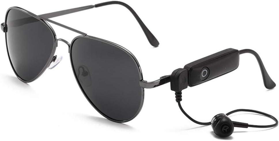 Nuevas Gafas Estéreo Bluetooth para Hombres Y Mujeres Trend Driver Phone Smart Mirror Polarized Solar Frog Mirror,Black: Amazon.es: Electrónica