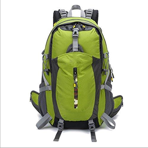 GJ バックパック - バックパック屋外の男性と女性が足でバックパックを旅行キャンプ乗馬旅行パッケージアウトドアバッグ (色 : 濃い緑色)  濃い緑色 B07DNSZNT5