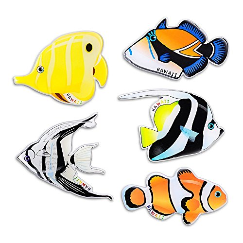 Refrigerator magnets cute fish magnets (5pcs) 3D pattern magnets,kitchen magnets,suitable for babyclassroom,fun office supplies,magnets for whiteboard, Arts & Crafts,Fun creative design with MORCART