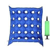 AnHua® FDA Medical Silla de ruedas Cojín de aire Colchón de asiento inflable anti cadera Más prevenir el decúbito 17 x 17 pulg.