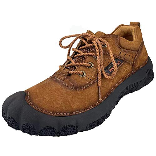 CEKU Mens Outdoor Hiking Leather Sneakers Walking Boots Casual Work Trekking Sports Climbing Shoes